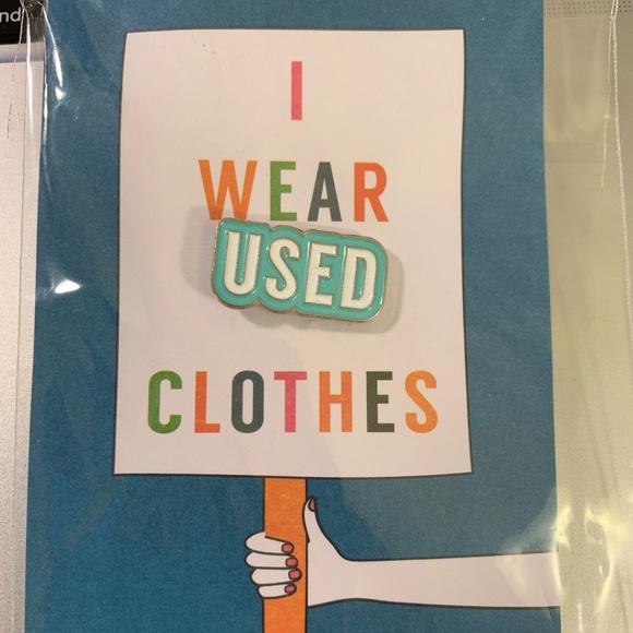 "e54e16ff0 ThredUP ""I Wear Used Clothes"" #ChooseUsed teal pin Boutique"